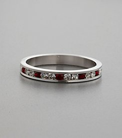 Cubic Zirconia & Ruby Swarovski® Crystal Ring