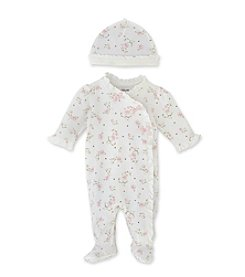 Little Me® Baby Girls' Vintage Rose Footie - Pink