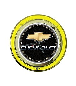 Trademark Officially Licensed Chevy® Black Neon Clock