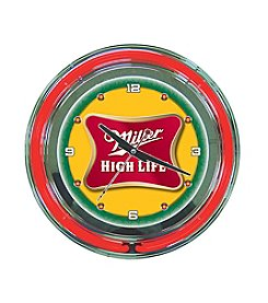 Trademark Officially Licensed Miller High Life® Yellow Neon Clock