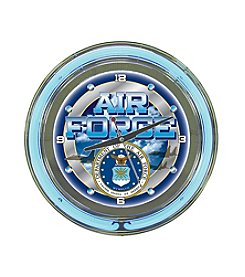 Trademark United States Air Force Neon Clock