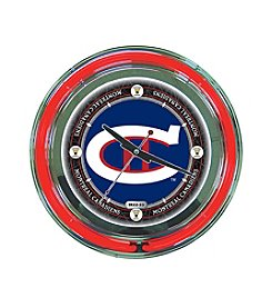NHL® Montreal Canadiens Officially Licensed Vintage Blue Neon Clock