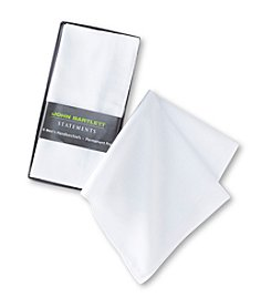 John Bartlett Statements Men's 6-Pack Creased Handkerchiefs - White