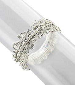 BT-Jeweled Single Row Stone Shaky Bracelet - Crystal/Silvertone