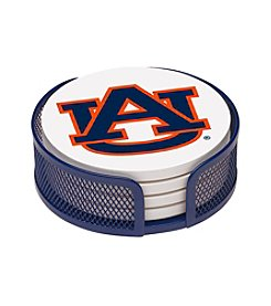 NCAA® Auburn University 4-pc. Coaster Set with Holder