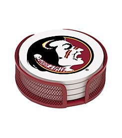 NCAA® Florida State University 4-pc. Coaster Set with Holder
