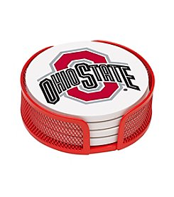NCAA® Ohio State University 4-pc. Coaster Set with Holder