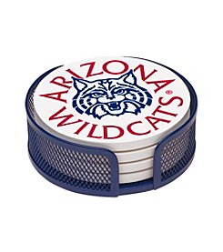 NCAA® University of Arizona 4-pc. Coaster Set with Holder