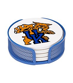 NCAA® University of Kentucky 4-pc. Coaster Set with Holder