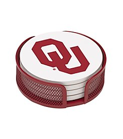 NCAA® University of Oklahoma 4-pc. Coaster Set with Holder