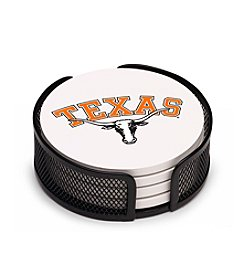 NCAA® University of Texas 4-pc. Coaster Set with Holder