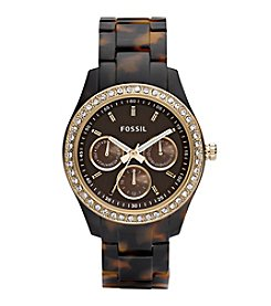 Fossil® Women's Stella Multifunctional Brown Dial Watch