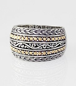 Effy® Balissima Collection Sterling Silver and 18K Gold Ring