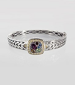 Effy® Sterling Silver and 18K Gold Multi Semi Precious Bangle Bracelet