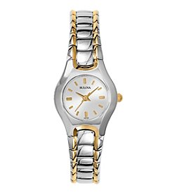 Bulova® Women's Two-Tone Gold and Silver Watch