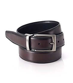 John Bartlett Statements Men's Reversible Belt - Burgundy/Black