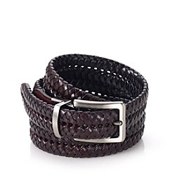 John Bartlett Statements Men's Black/Brown Woven Belt
