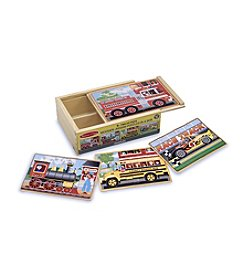 Melissa & Doug® Vehicle Puzzles in a Box