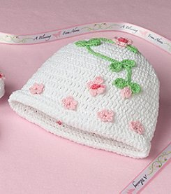 Lillian Rose® Baby Floral Crocheted Cap