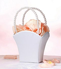 Lillian Rose® White Satin Flower Basket