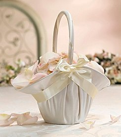 Lillian Rose® Large Ivory Satin Flower Basket
