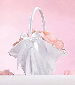 Lillian Rose® Large White Satin Flower Basket