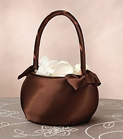 Lillian Rose® Brown Satin Wedding Flower Basket