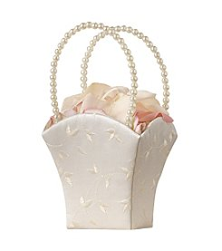 Lillian Rose® Elegant Embroidered Ivory Flower Basket