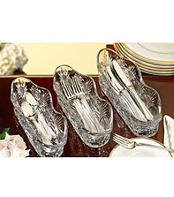 Fifth Avenue Crystal Ltd.® Portico 3-pc. Flatware Caddy Set