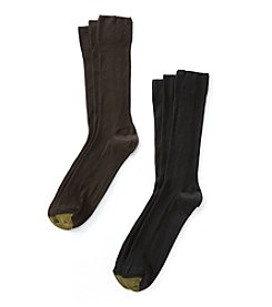 GOLD TOE® Men's Metropolitan 3-Pack Crew Socks