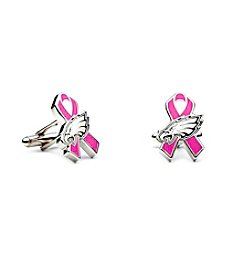 NFL® Philadelphia Eagles Breast Cancer Awareness Cufflinks