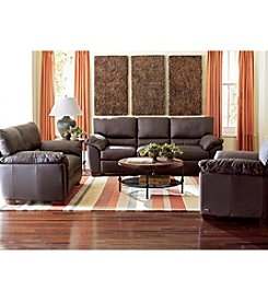 Natuzzi Editions® Trento Brown Leather Living Room Furniture Collection