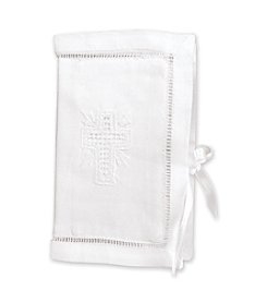 Stephan Baby Embroidered Bible - White