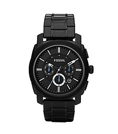 Fossil® Men's 45mm Chronograph Black Dial Watch