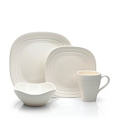 Mikasa® Swirl Square White 4-pc. Place Setting