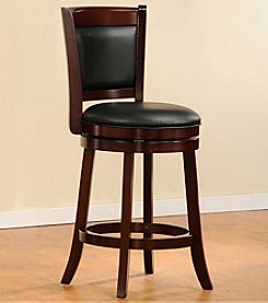 Home Interior 360° Swivel Pub Chair with Padded Back - Cherry