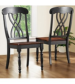 Home Interior 2-pc. Country Style Dining Chair Set - Black