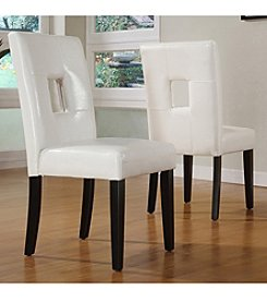 Home Interior 2-pc. Faux Leather Dining Chair Set - White