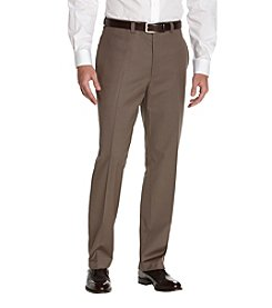 Calvin Klein Men's Straight Fit Flat Front Dress Pants