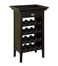 Powell® Wine Cabinet - Black/Merlot