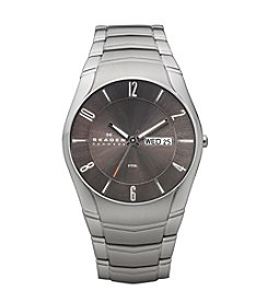 Skagen Men's Stainless Steel & Charcoal Watch