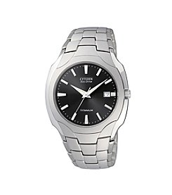 Citizen® Men's Eco-Drive Titanium Watch with Black Dial