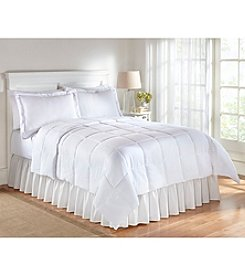 Living Quarters White Reversible Microfiber Down-Alternative Comforter