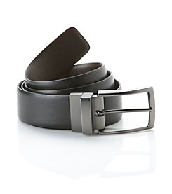 John Bartlett Statements Men's Brown/Black Reversible Bridle Belt