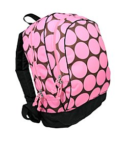 Wildkin Big Dots Sidekick Backpack - Pink/Mocha