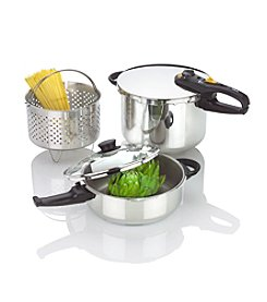 Fagor Duo Combi 5-pc. Stainless Steel Pressure Cooker Set