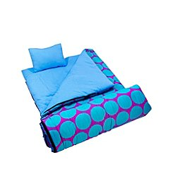 Wildkin Big Dots in Aqua Sleeping Bag
