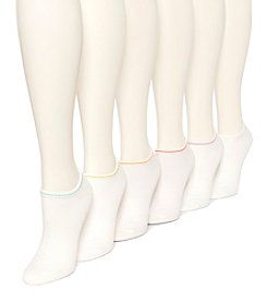 HUE® 6-pack Liner Tipped Color Socks