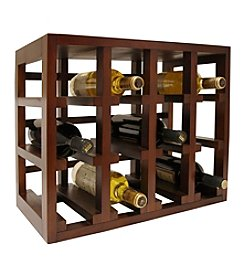 Vinotemp® 12-Bottle Stackable Wood Wine Rack