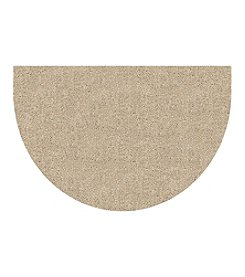 "Bungalow Flooring DirtStopper Brown and White 24x39"" Half Round Mat"